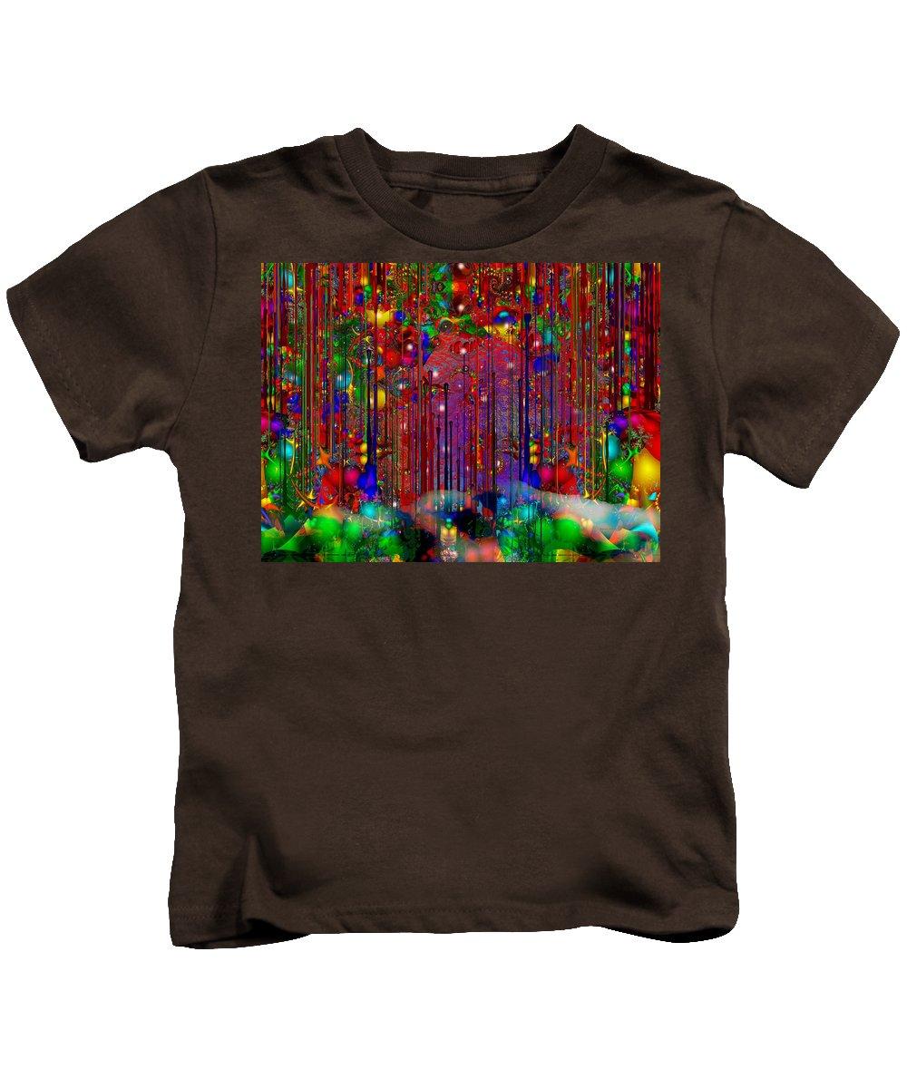 Colorful Kids T-Shirt featuring the digital art Home by Robert Orinski