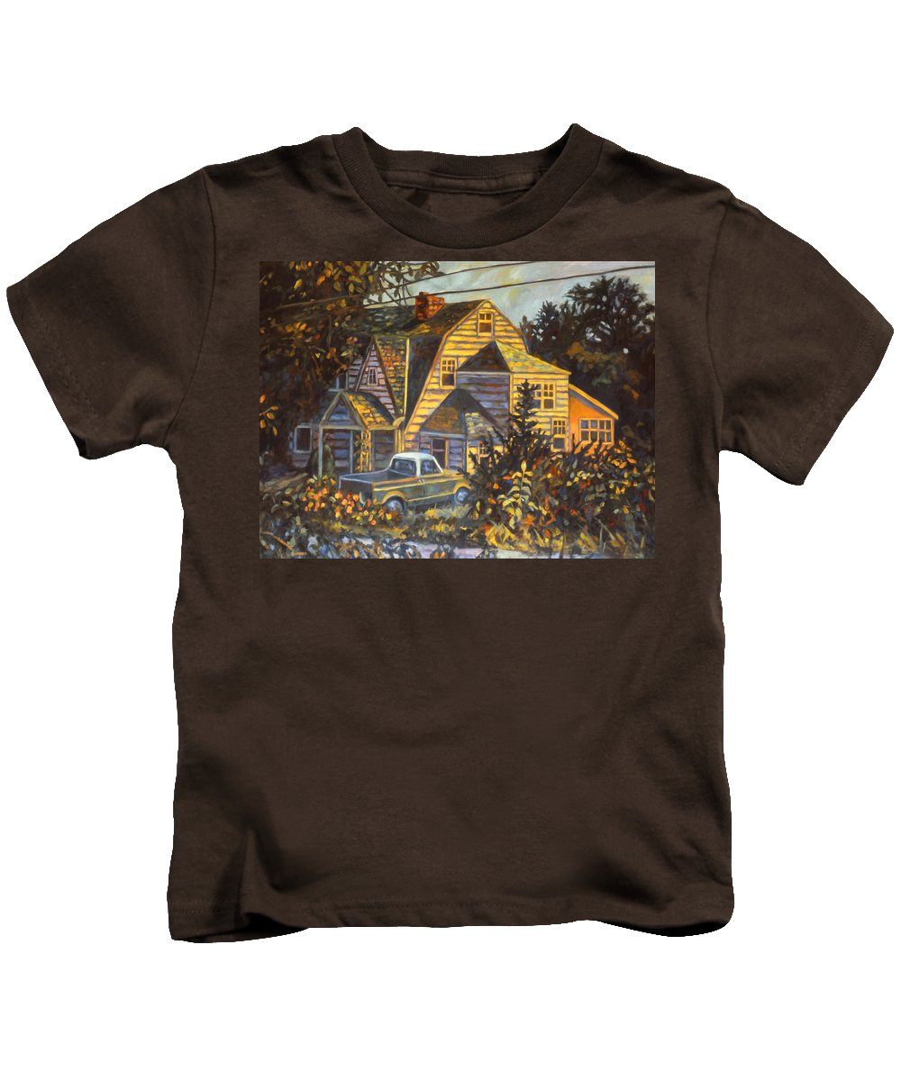Kendall Kessler Kids T-Shirt featuring the painting House In Christiansburg by Kendall Kessler