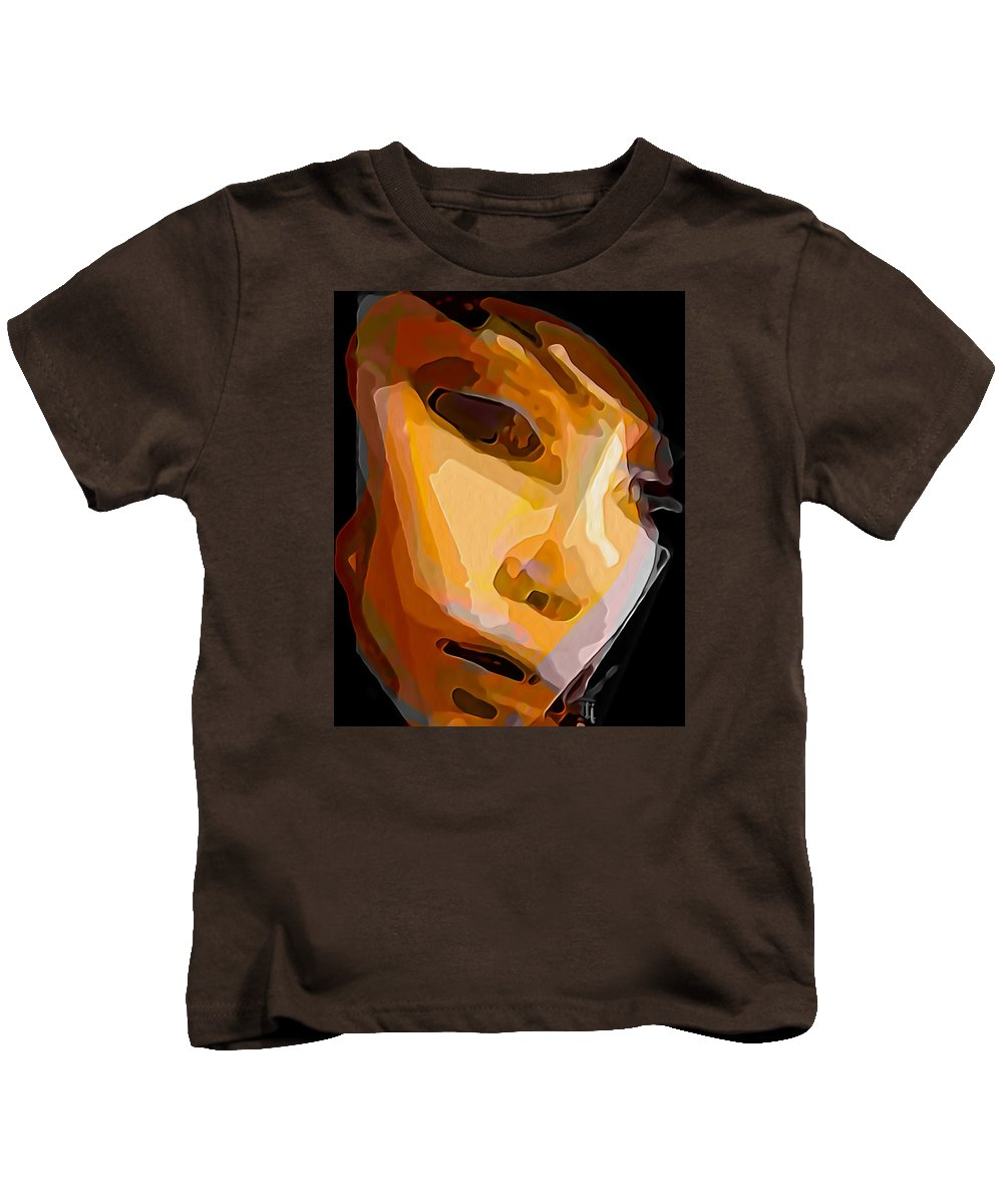 Human Nature Kids T-Shirt featuring the painting Human Nature by Fli Art