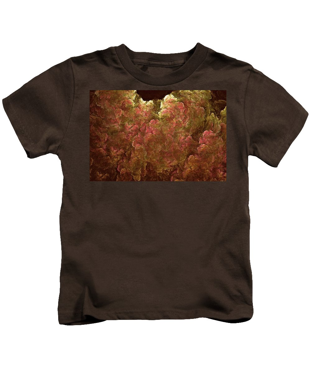 Hydrangea Kids T-Shirt featuring the digital art Hydrangea Fractal Blossoms by Doug Morgan