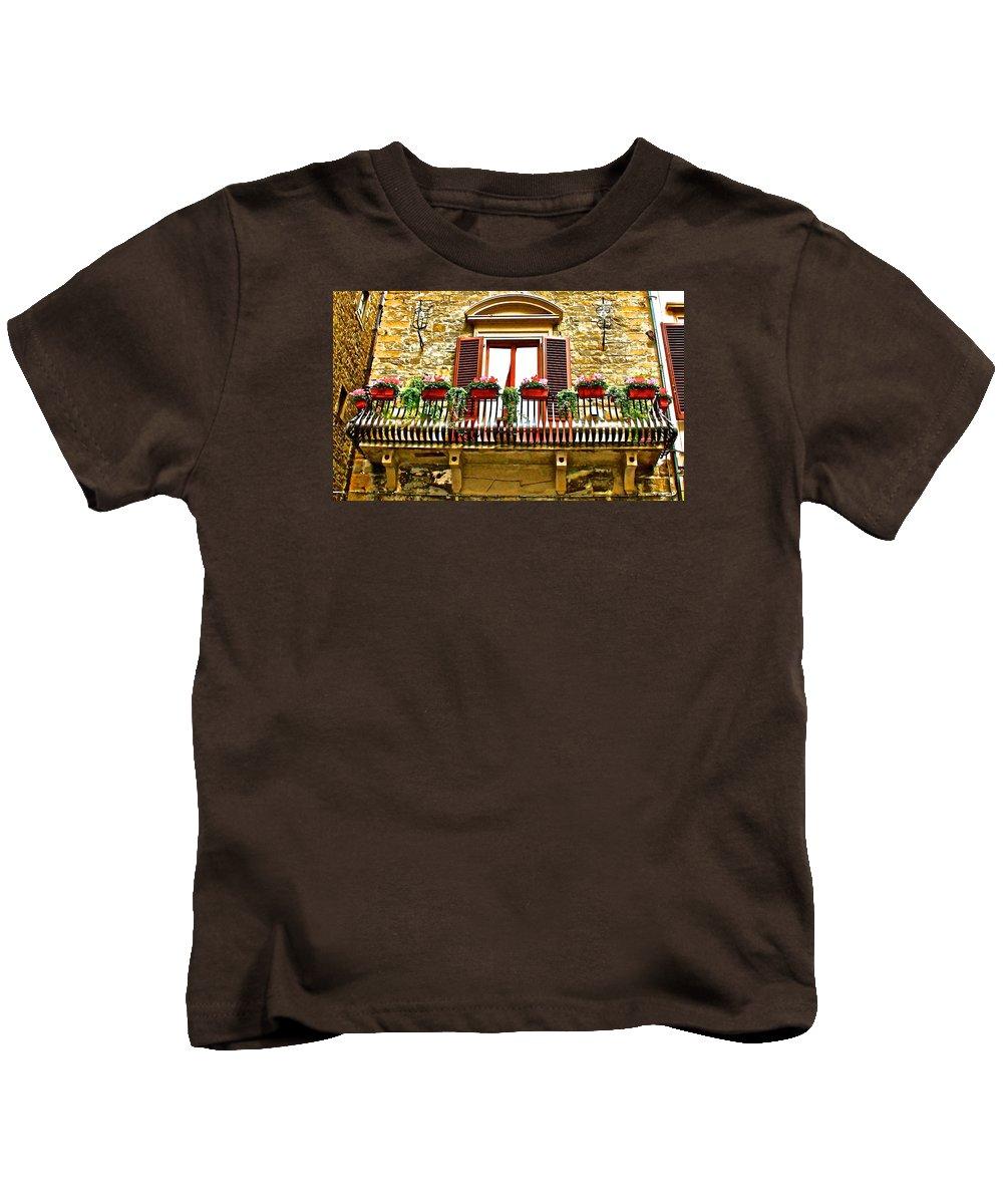 Italy Kids T-Shirt featuring the photograph Il Balcone Di Firenze by Mark Prescott Crannell