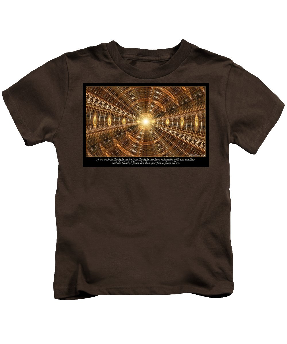 Fractal Kids T-Shirt featuring the digital art In The Light by Missy Gainer