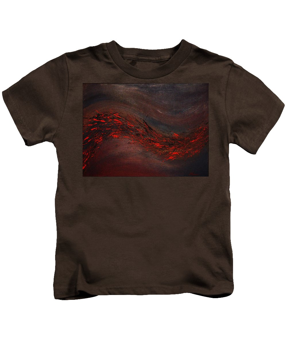 Acrylic Kids T-Shirt featuring the painting Into The Night by Todd Hoover
