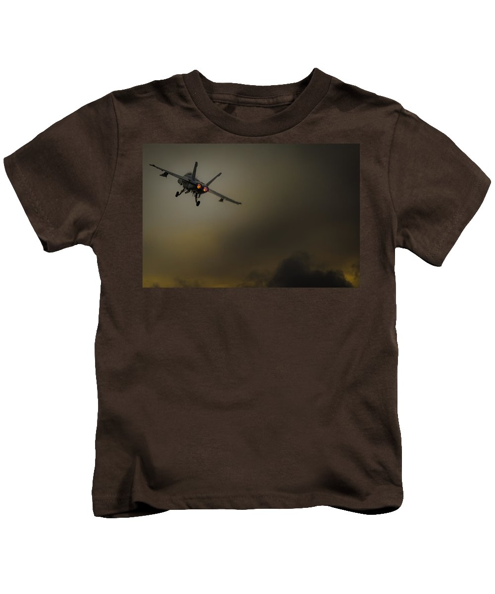 Aeroplane Kids T-Shirt featuring the photograph Into The Unknown by Gareth Burge Photography