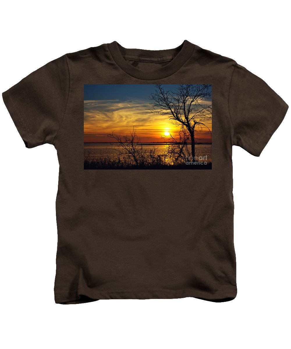 Sunset. Sun Kids T-Shirt featuring the photograph Intricate Details by Joan McCool
