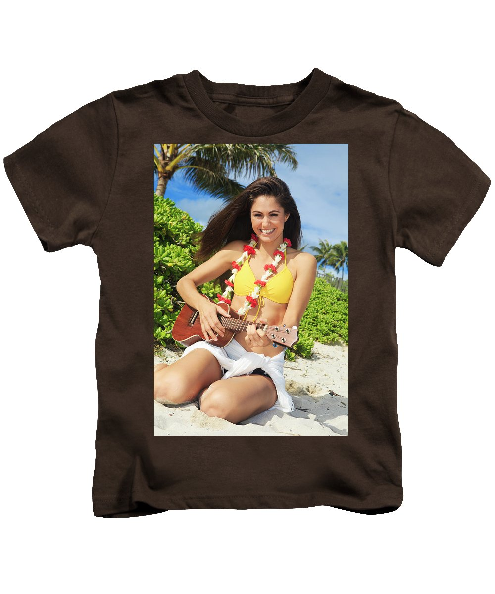 Beach Kids T-Shirt featuring the photograph Island Music II by Tomas Del Amo - Printscapes