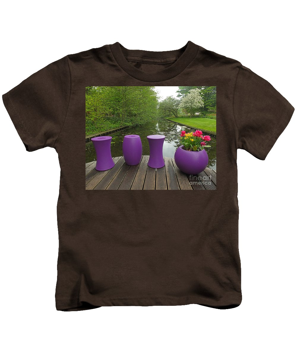 Keukenhof Gardens Kids T-Shirt featuring the photograph Keukenhof Gardens 47 by Mike Nellums