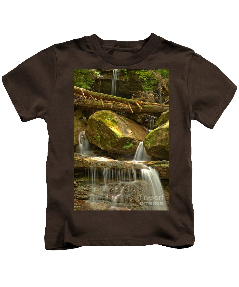 Kildoo Falls Kids T-Shirt featuring the photograph Kildoo Falls by Adam Jewell