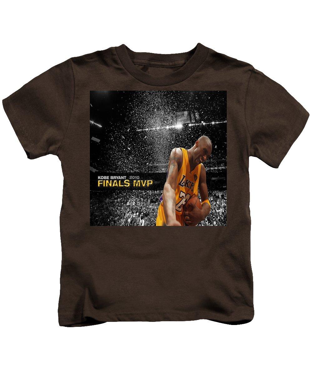 Kobe Kids T-Shirt featuring the digital art Kobe Bryant by Brian Reaves