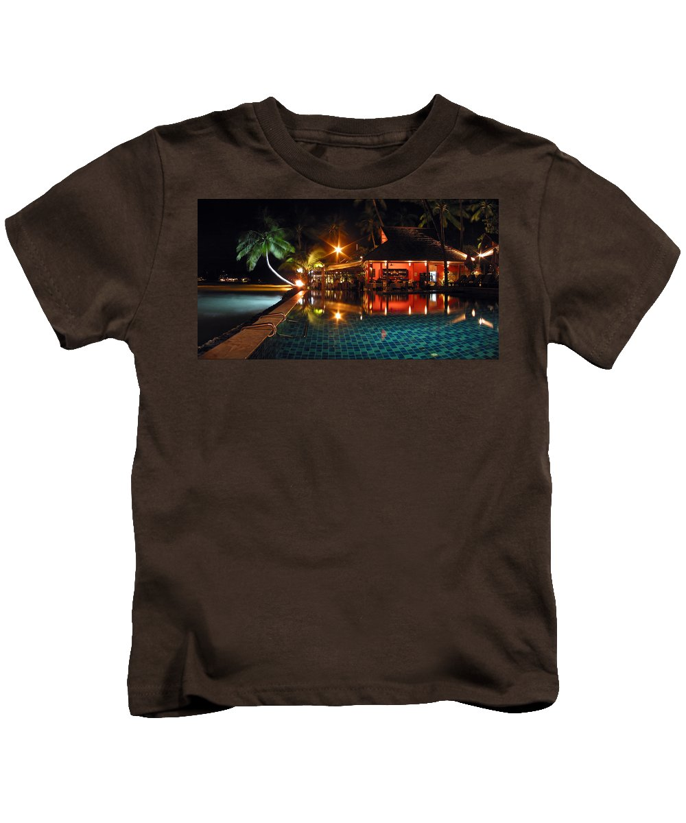 3scape Kids T-Shirt featuring the photograph Koh Samui Beach Resort by Adam Romanowicz