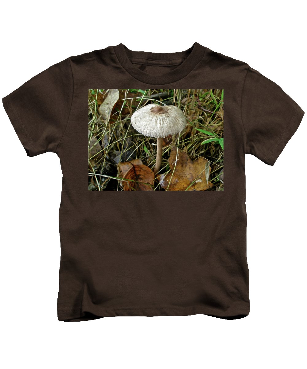 Mushroom Kids T-Shirt featuring the photograph Lacy Parasol Mushroom by Mother Nature