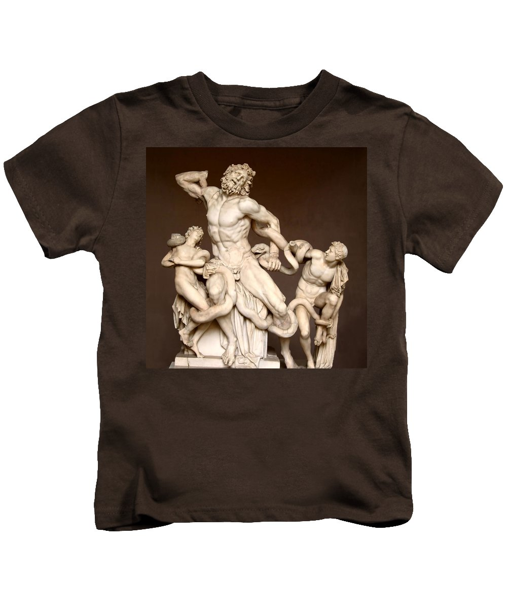 Laocoon And Sons Kids T-Shirt featuring the photograph Laocoon And Sons by Ellen Henneke