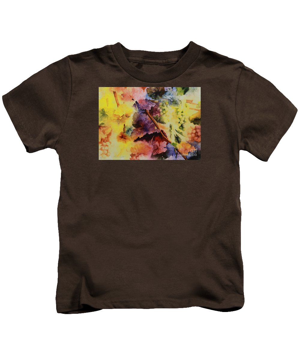 Still Life Kids T-Shirt featuring the painting Le Magie D' Automne by Maria Hunt