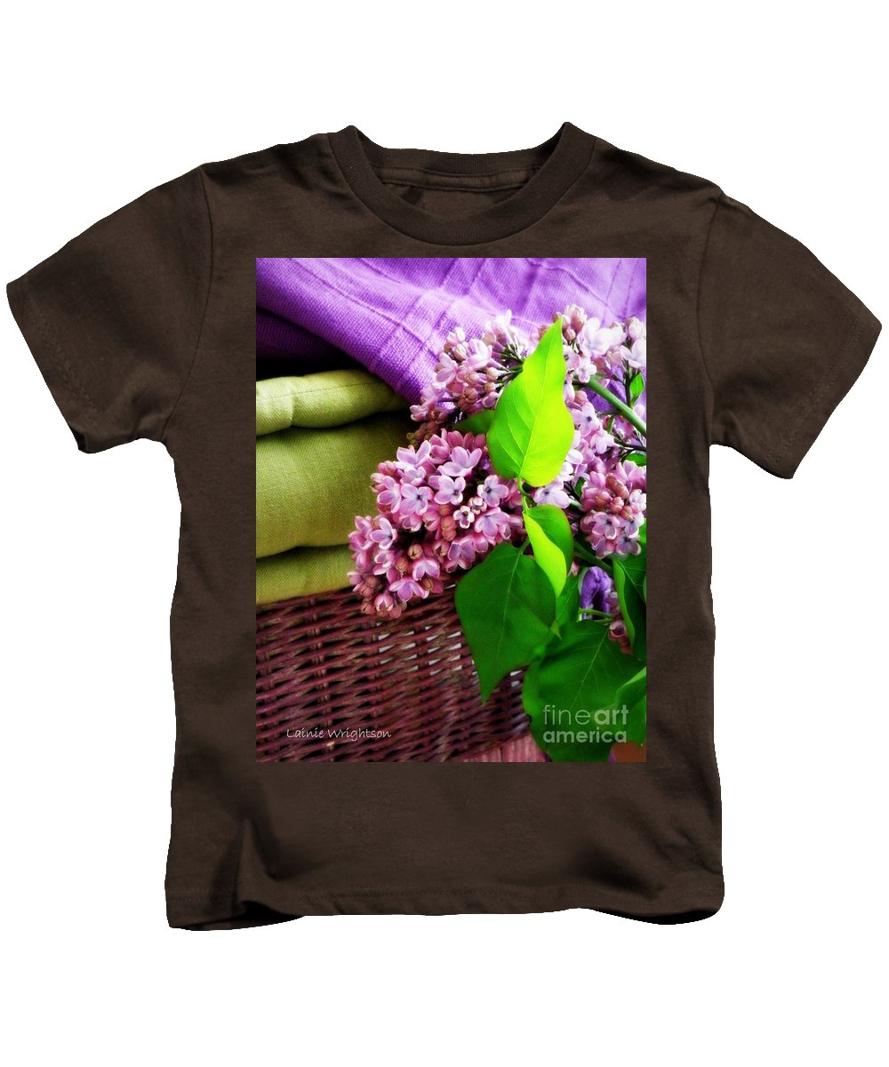 Lilac Kids T-Shirt featuring the photograph Lilac Still Life by Lainie Wrightson
