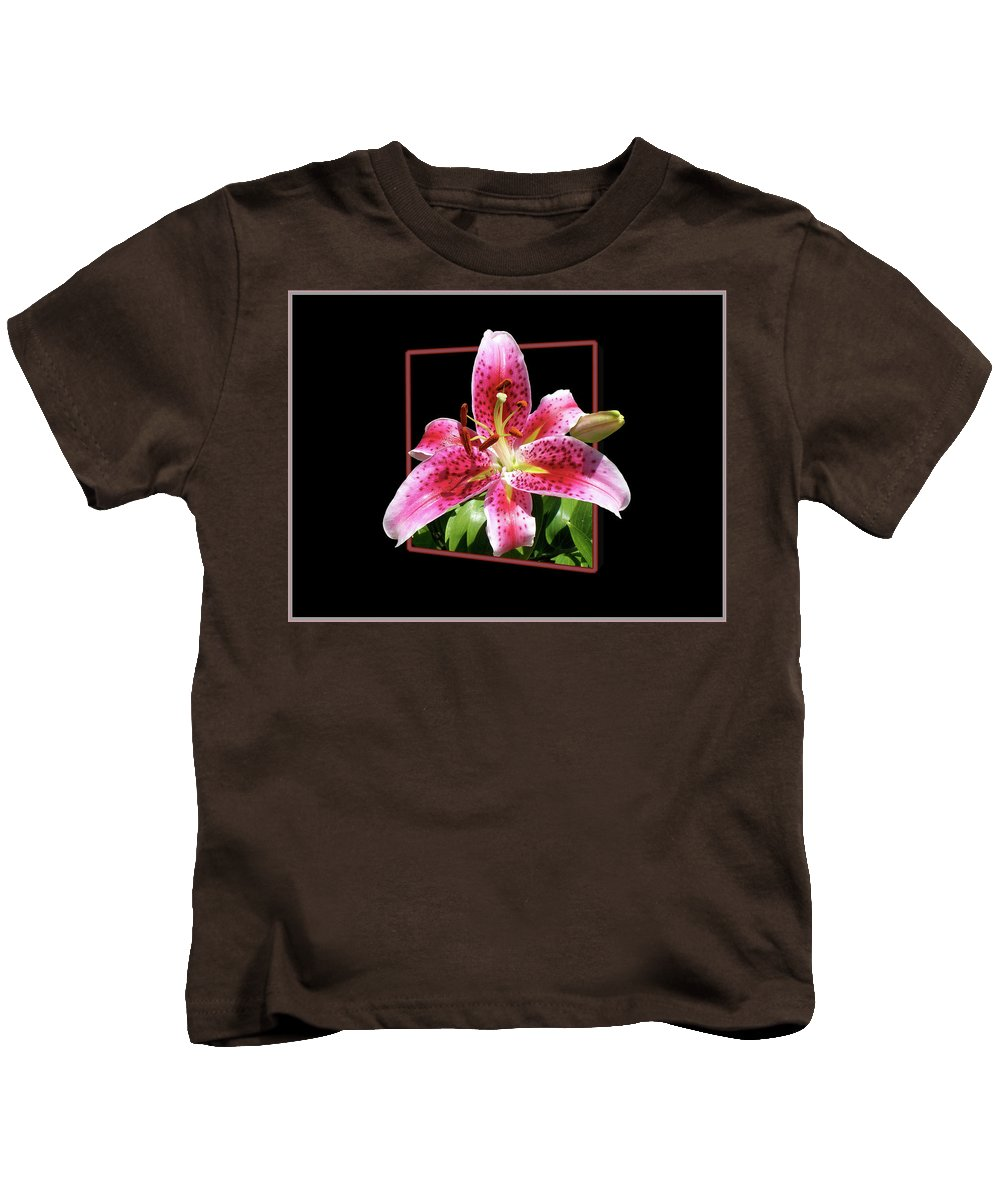 Flower Kids T-Shirt featuring the photograph Lilly Ready To Serve by Thomas Woolworth