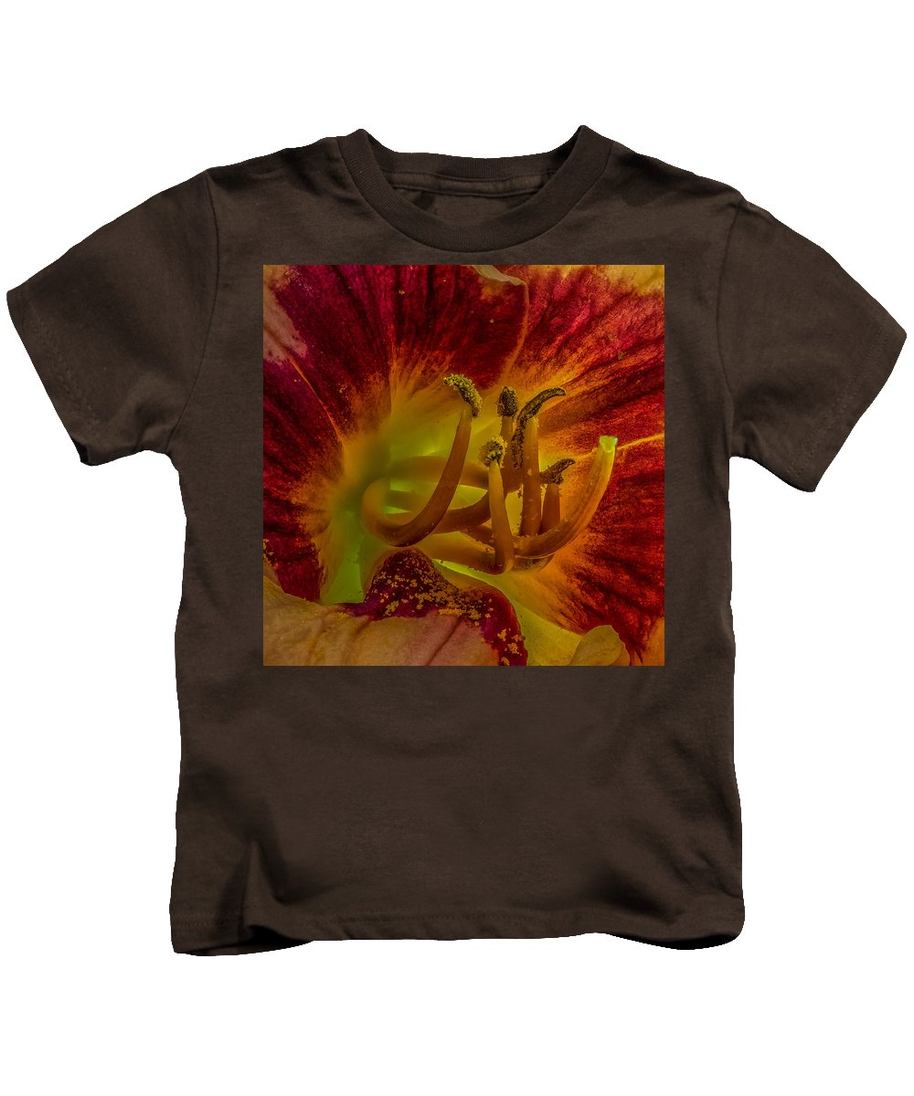 Bloom Kids T-Shirt featuring the photograph Lily Closeup by Paul Freidlund