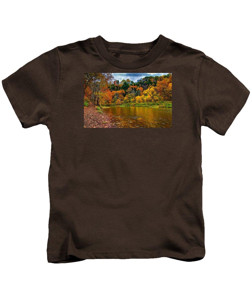 Tree Kids T-Shirt featuring the photograph Little Beaver Creek Bend by John M Bailey