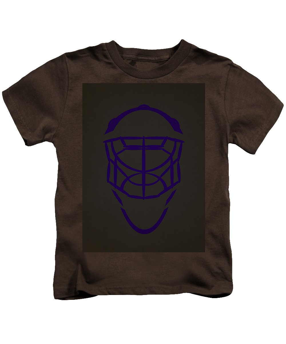Kings Kids T-Shirt featuring the photograph Los Angeles Kings Goalie Mask by Joe Hamilton