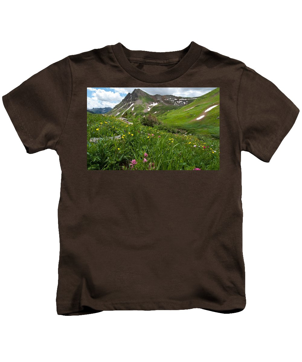 Ouray Kids T-Shirt featuring the photograph Lush Colorado Summer Landscape by Cascade Colors