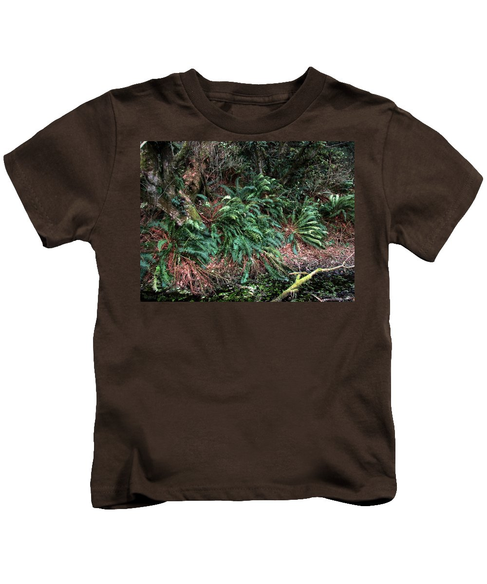 Ferns Kids T-Shirt featuring the photograph Lush Ferns Of The Forest by Joyce Dickens