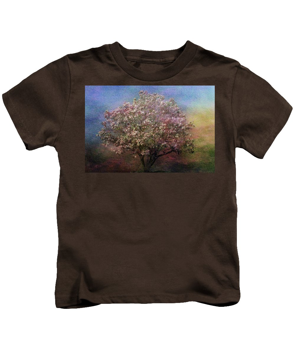 Tree Kids T-Shirt featuring the photograph Magnolia Tree In Bloom by Sandy Keeton