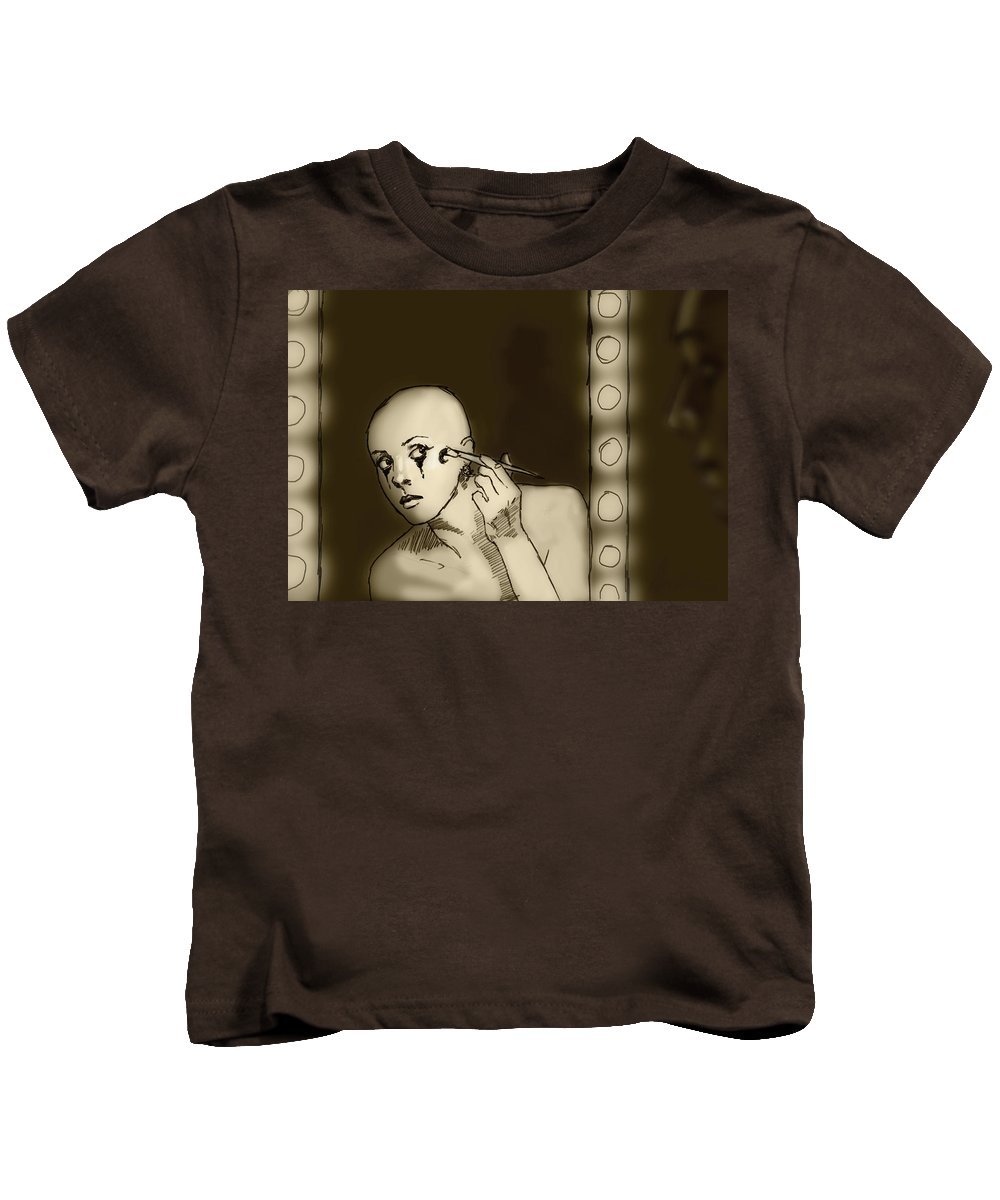 Acrobat Kids T-Shirt featuring the digital art Making Up by H James Hoff