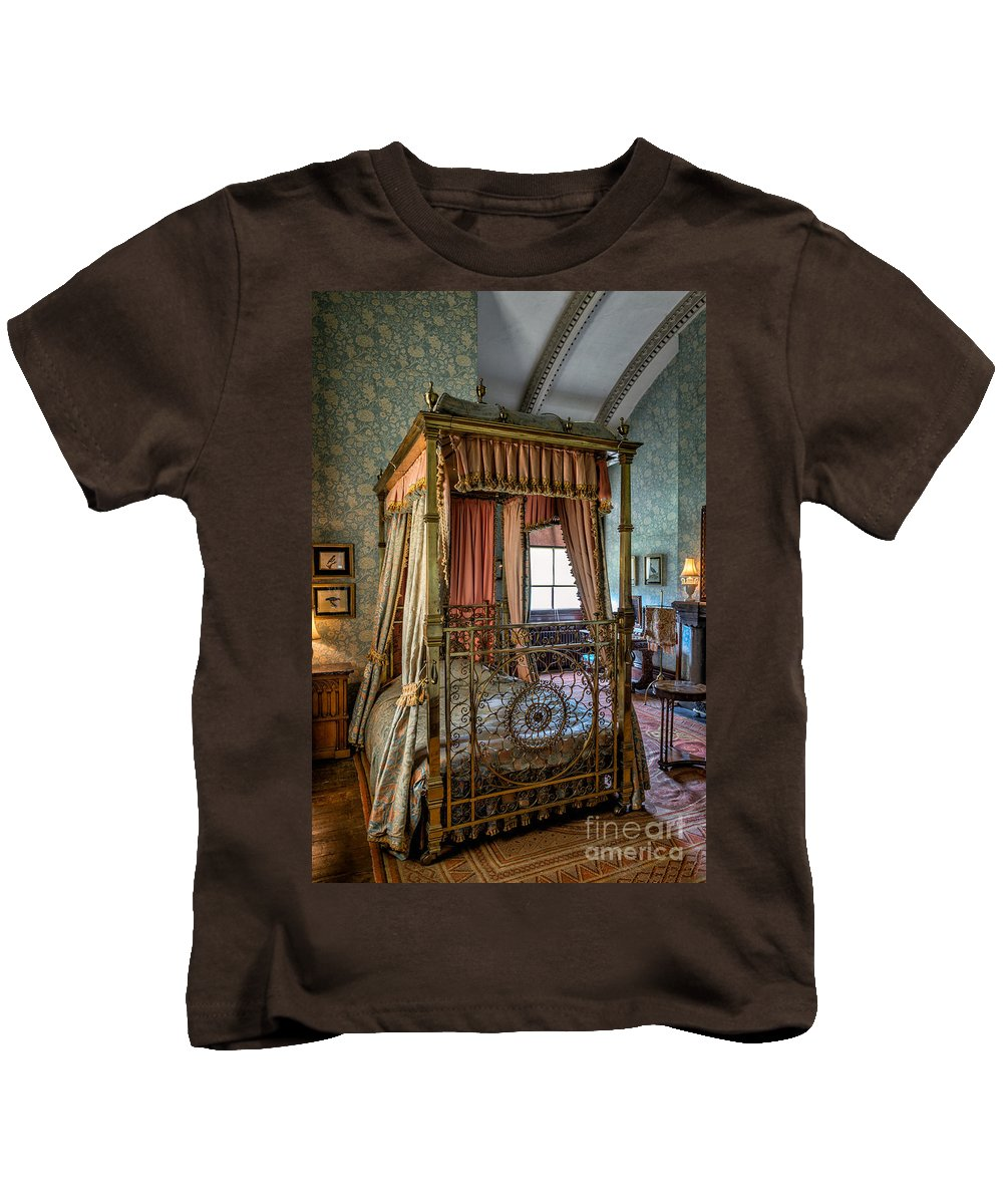 British Kids T-Shirt featuring the photograph Mansion Bedroom by Adrian Evans