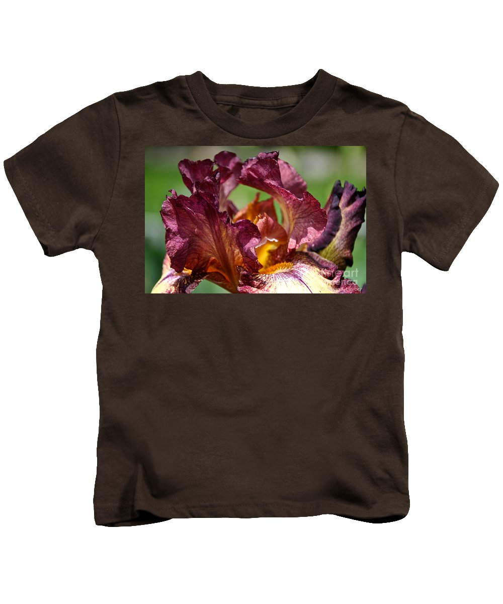 Flower Kids T-Shirt featuring the photograph Maroon Noon by Susan Herber