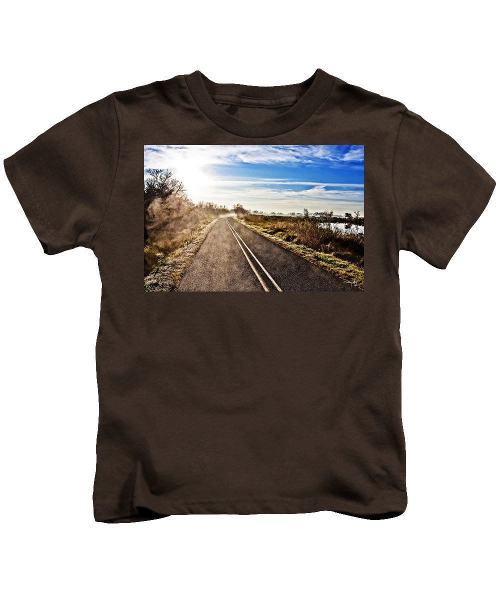 Marsh Kids T-Shirt featuring the photograph Marsh Road by Scott Pellegrin