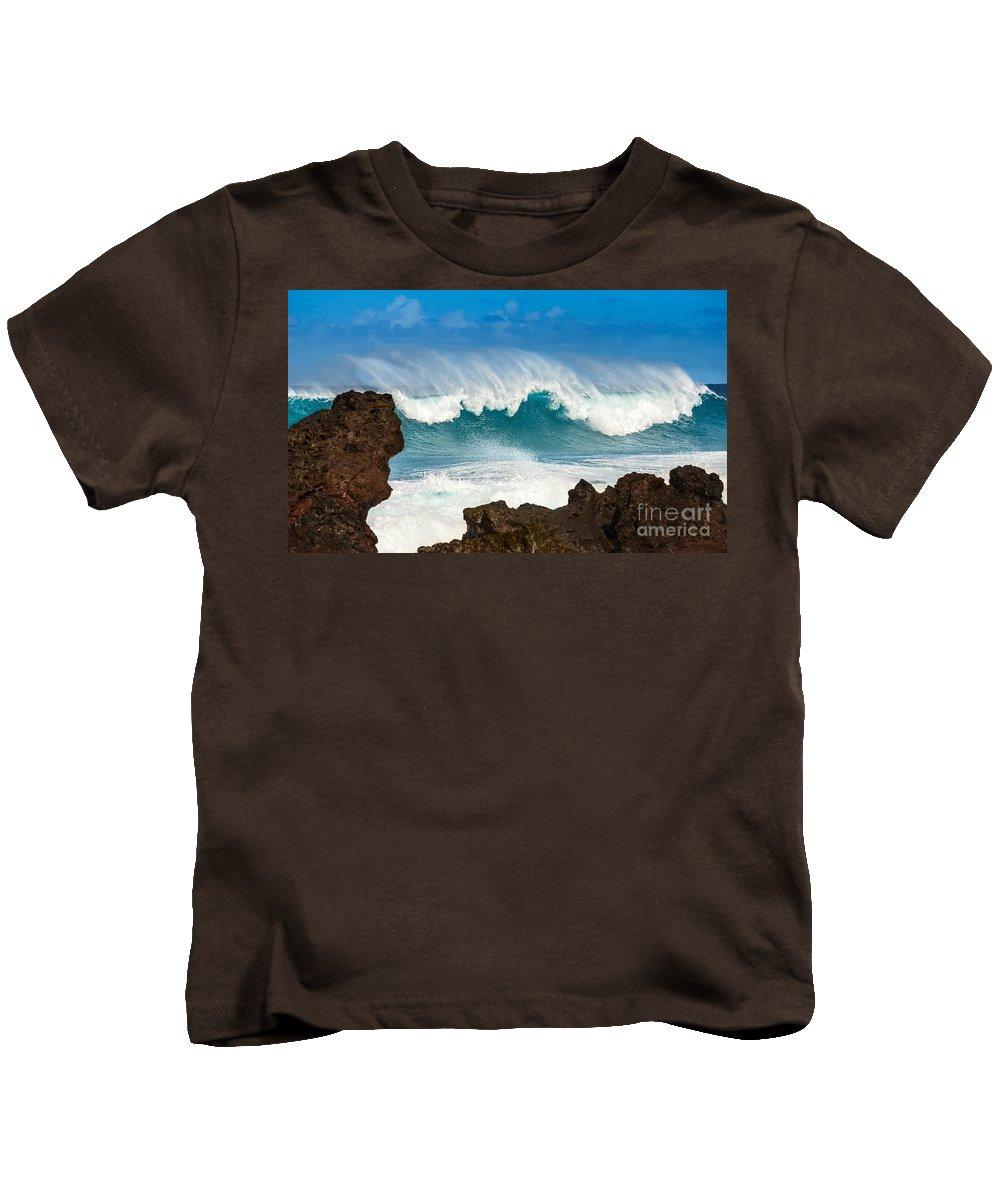 Hookipa Beach Kids T-Shirt featuring the photograph Maui Monster by Jamie Pham