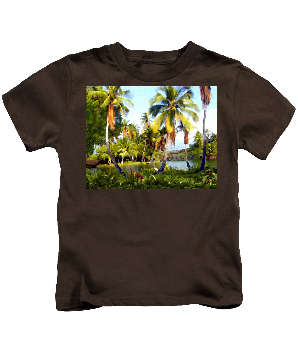 Hawaii Kids T-Shirt featuring the photograph Mauna Lani Fish Ponds by Kurt Van Wagner