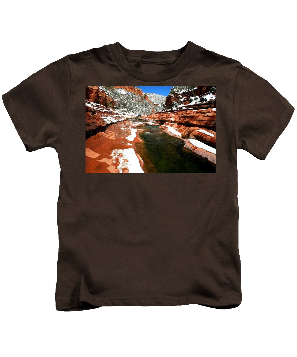 Arizona Kids T-Shirt featuring the photograph Melt by Miles Stites