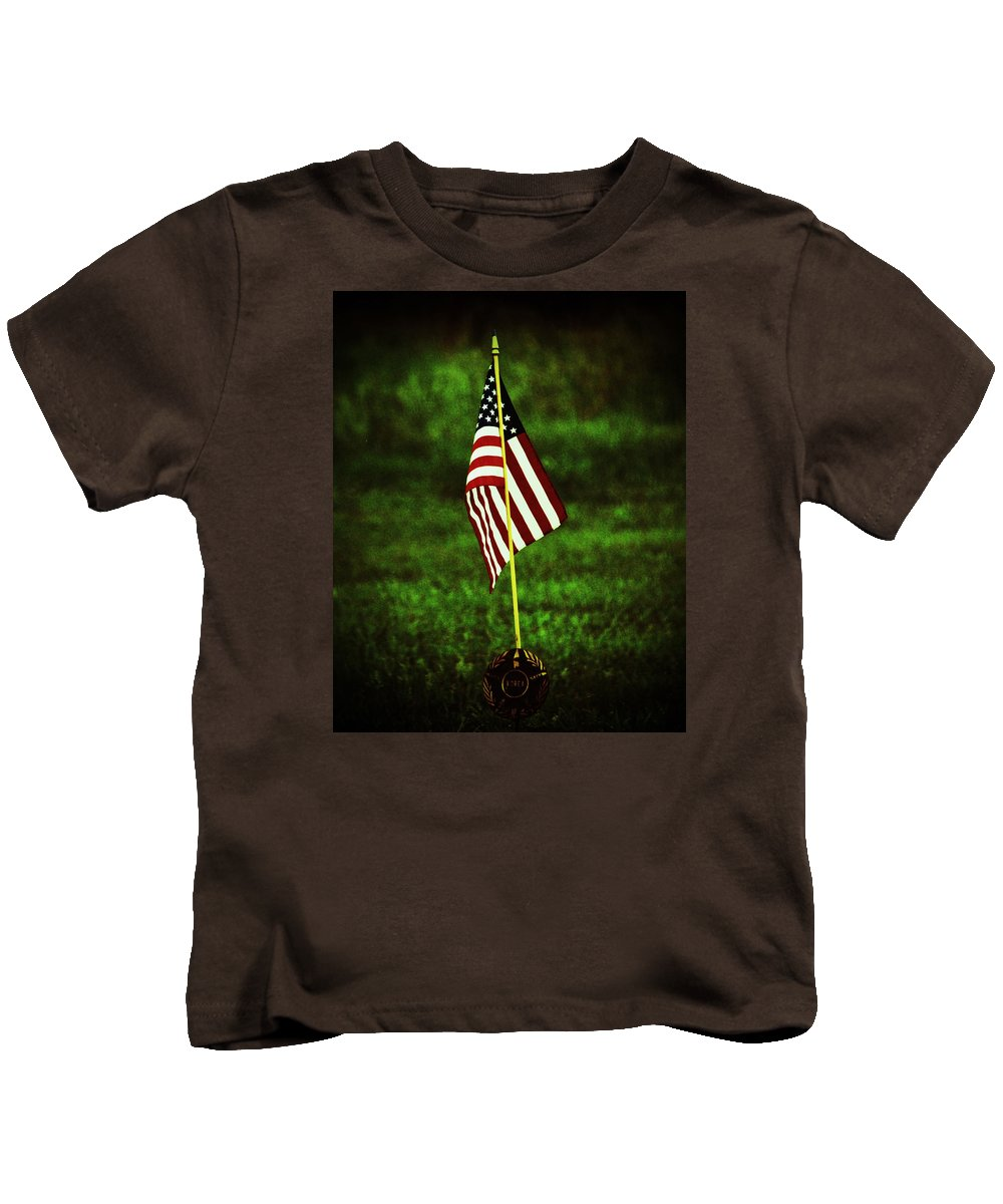 Flag Kids T-Shirt featuring the photograph Memorial Day by Pamela Peters