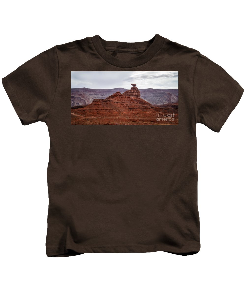 Valley Of The Gods Kids T-Shirt featuring the photograph Mexican Hat by Robert Bales