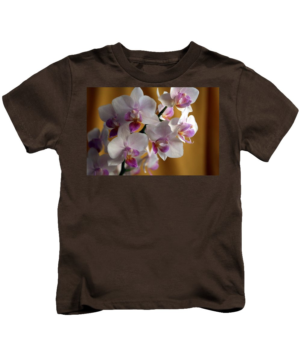 Mini Phalaenopsis Kids T-Shirt featuring the photograph Mini Orchids 12 by Marna Edwards Flavell