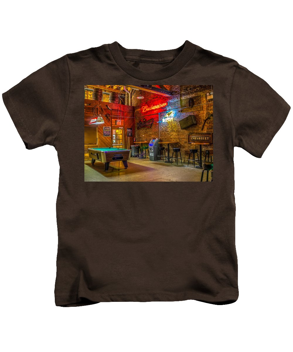 Alcohol Kids T-Shirt featuring the photograph Moosehead Saloon by Rob Sellers
