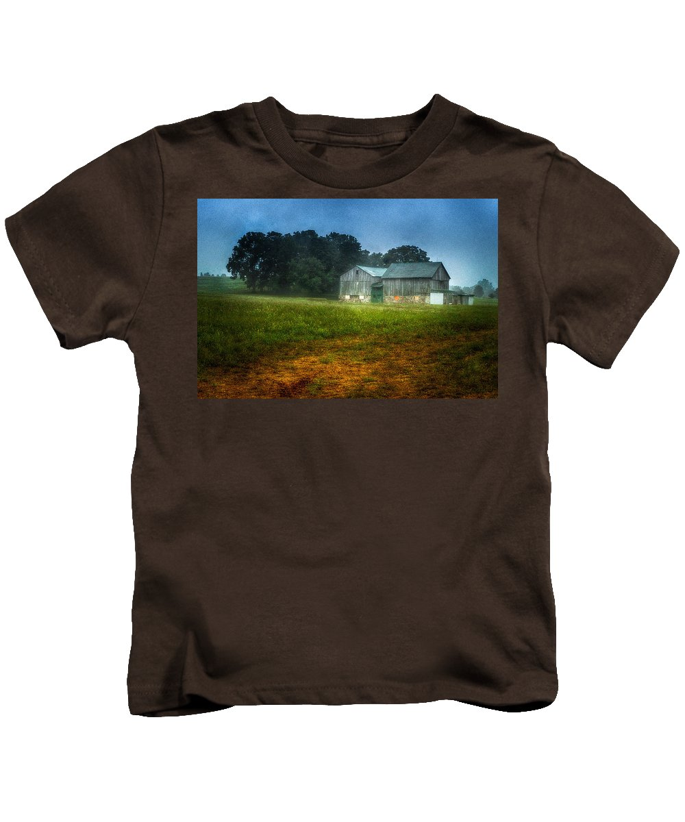 Farm Kids T-Shirt featuring the photograph Morning Chores by Garvin Hunter