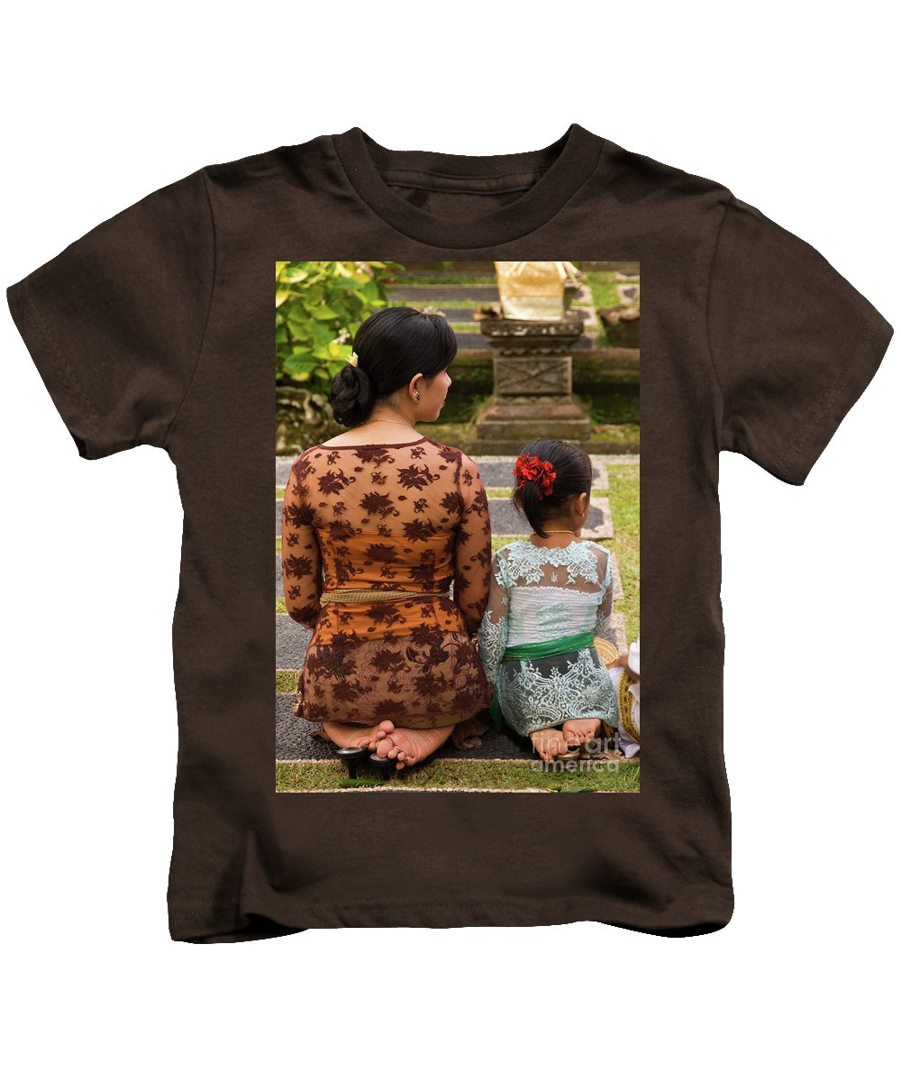 Indonesia Kids T-Shirt featuring the photograph Mother And Daughter by Rick Piper Photography