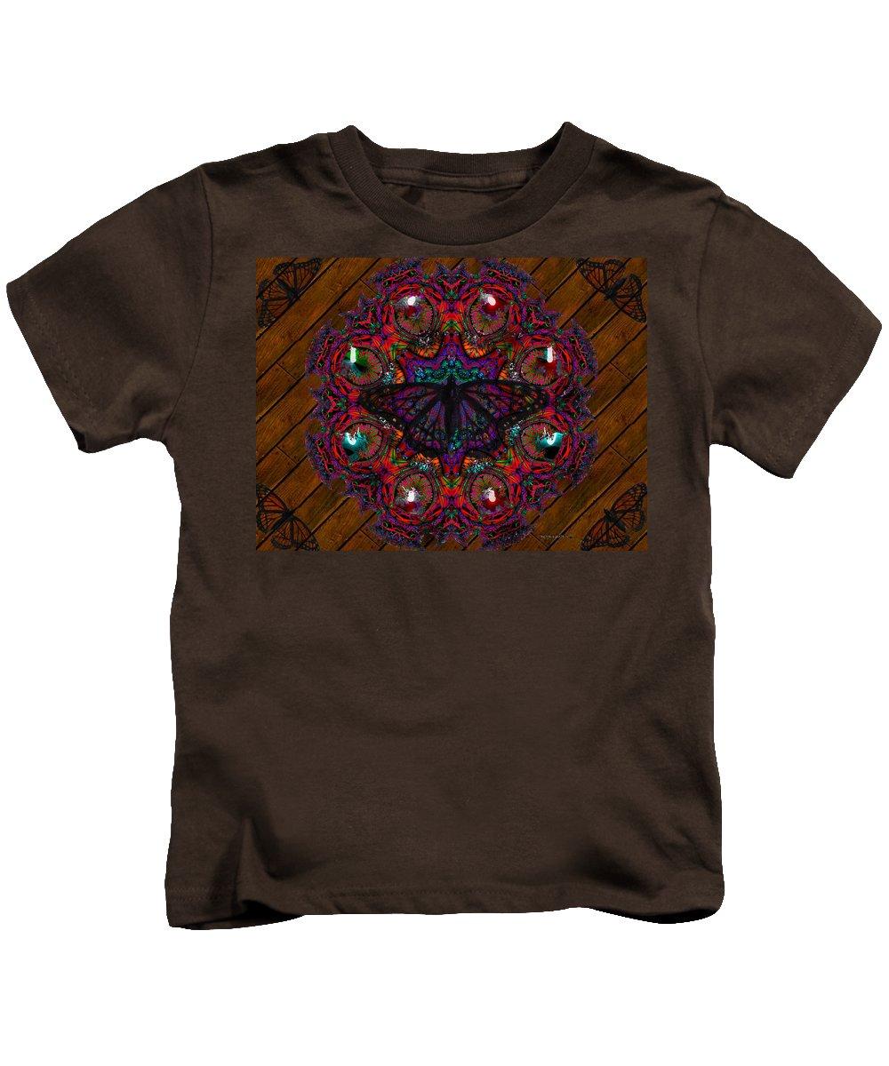 Butterfly Kids T-Shirt featuring the digital art Mother Nature by Robert Orinski