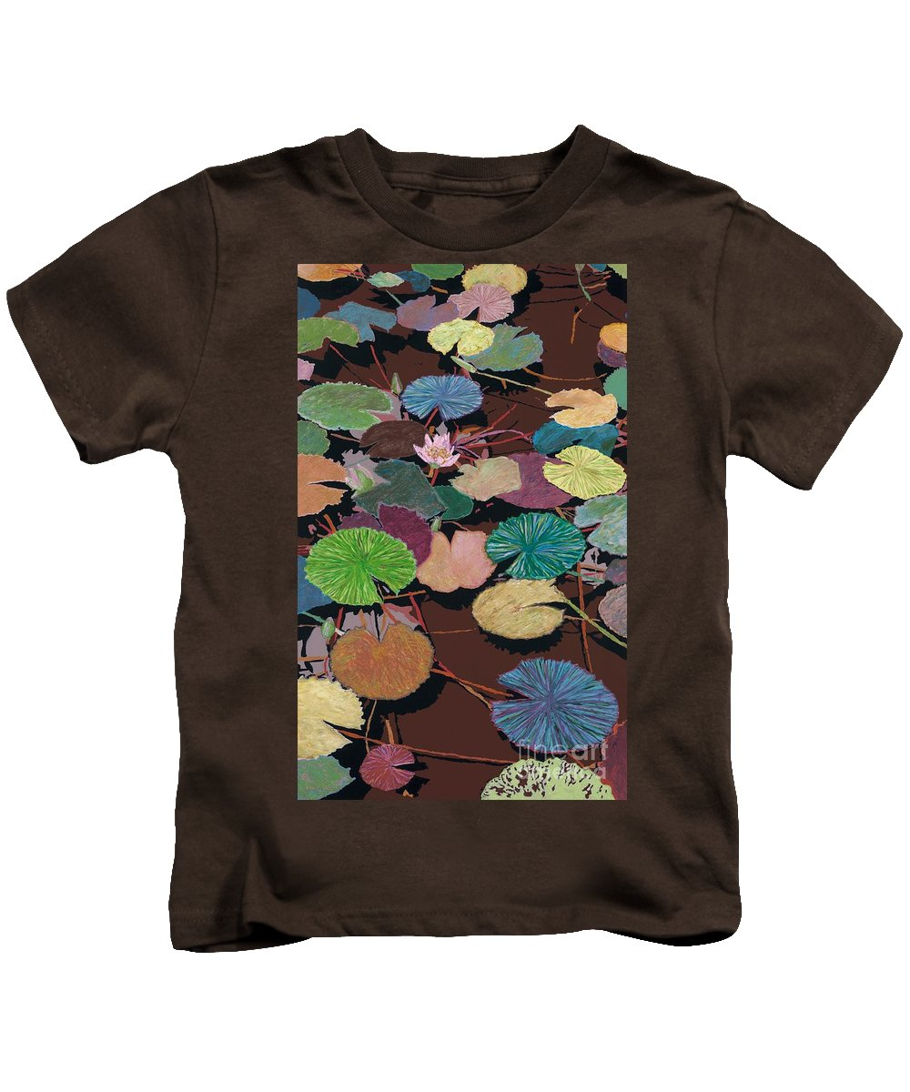 Landscape Kids T-Shirt featuring the painting Muddy Waters by Allan P Friedlander