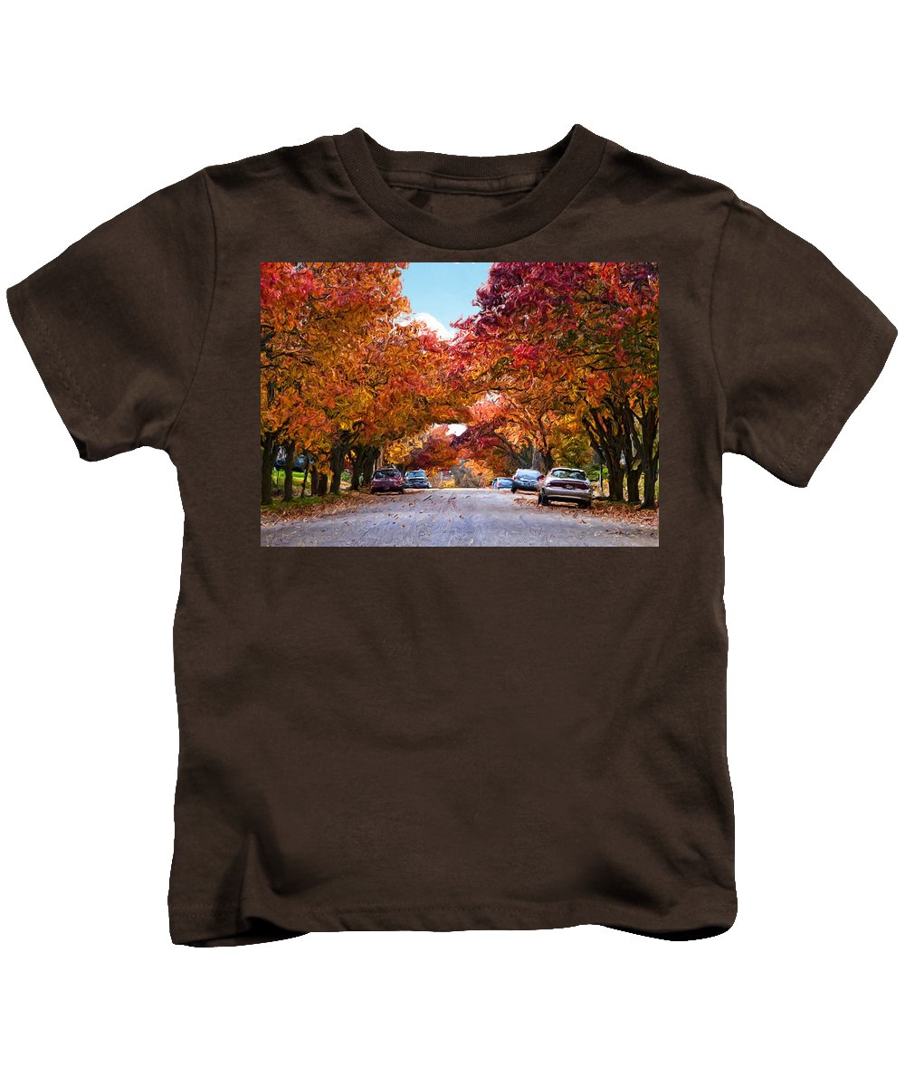 My Way Home Kids T-Shirt featuring the digital art My Way Home.... by Phyllis Taylor