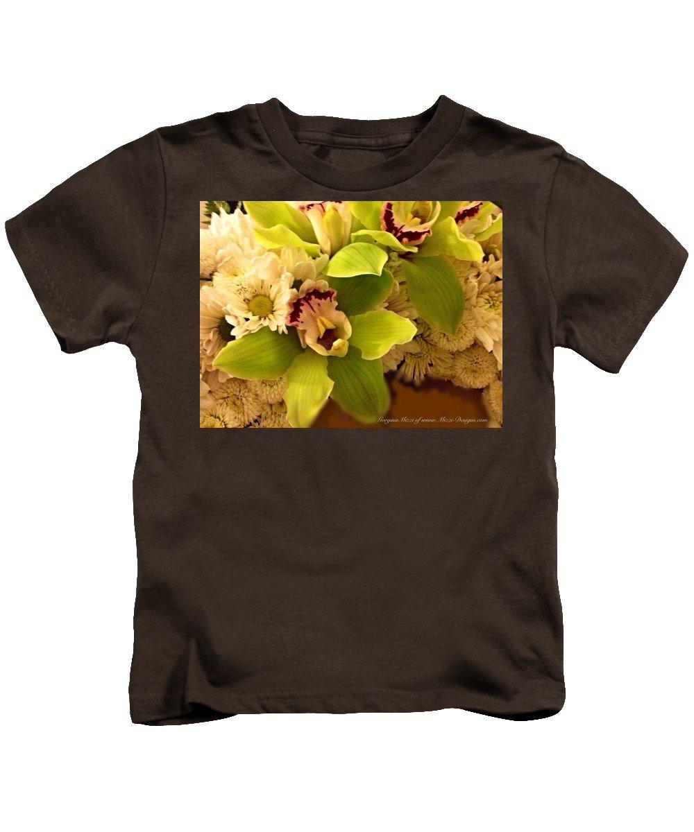 Mums Kids T-Shirt featuring the photograph Mystical Orchid by Georgina Mizzi