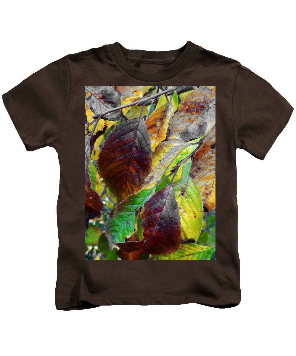 Faded Kids T-Shirt featuring the photograph Nature Has Been Recycling For Ages by Steve Taylor