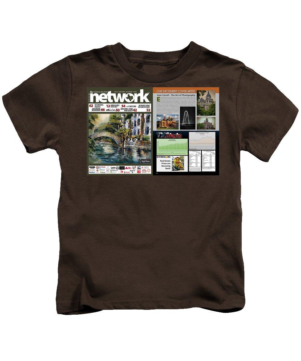 Joan Carroll Kids T-Shirt featuring the photograph Network Magazine Feature by Joan Carroll