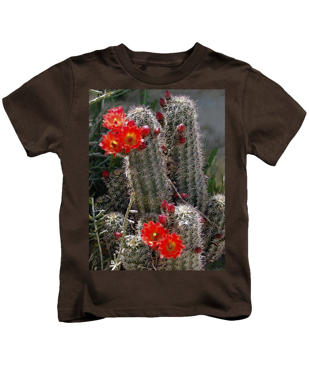Cactus Kids T-Shirt featuring the photograph New Mexico Cactus by Kurt Van Wagner