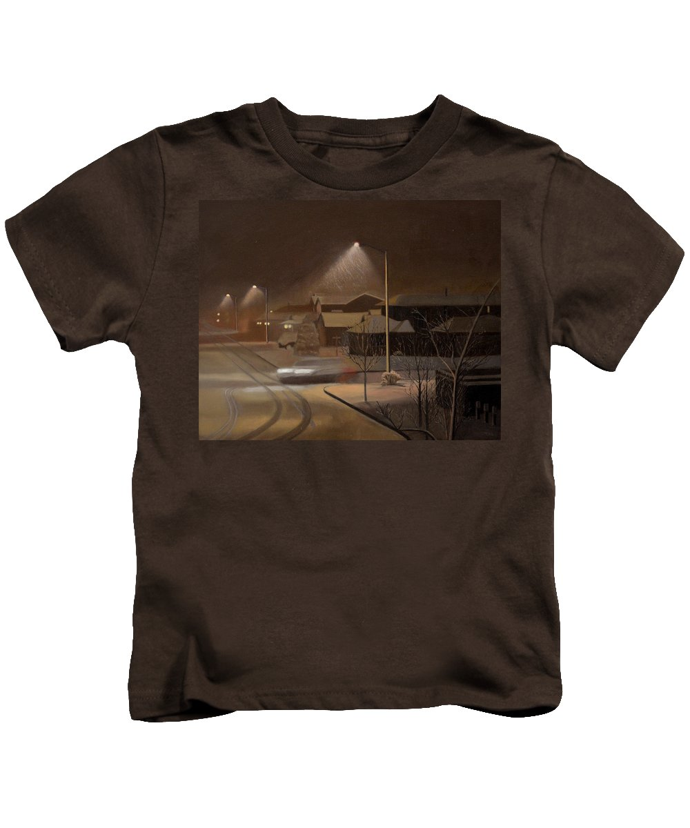 Night Kids T-Shirt featuring the painting Night Drive by Thu Nguyen