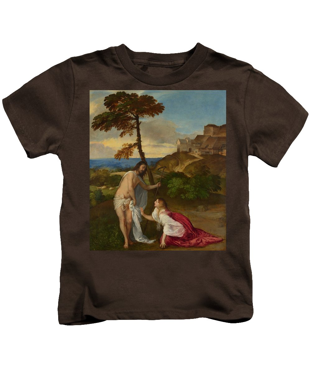 Noli Me Tangere Kids T-Shirt featuring the painting Noli Me Tangere by Titian