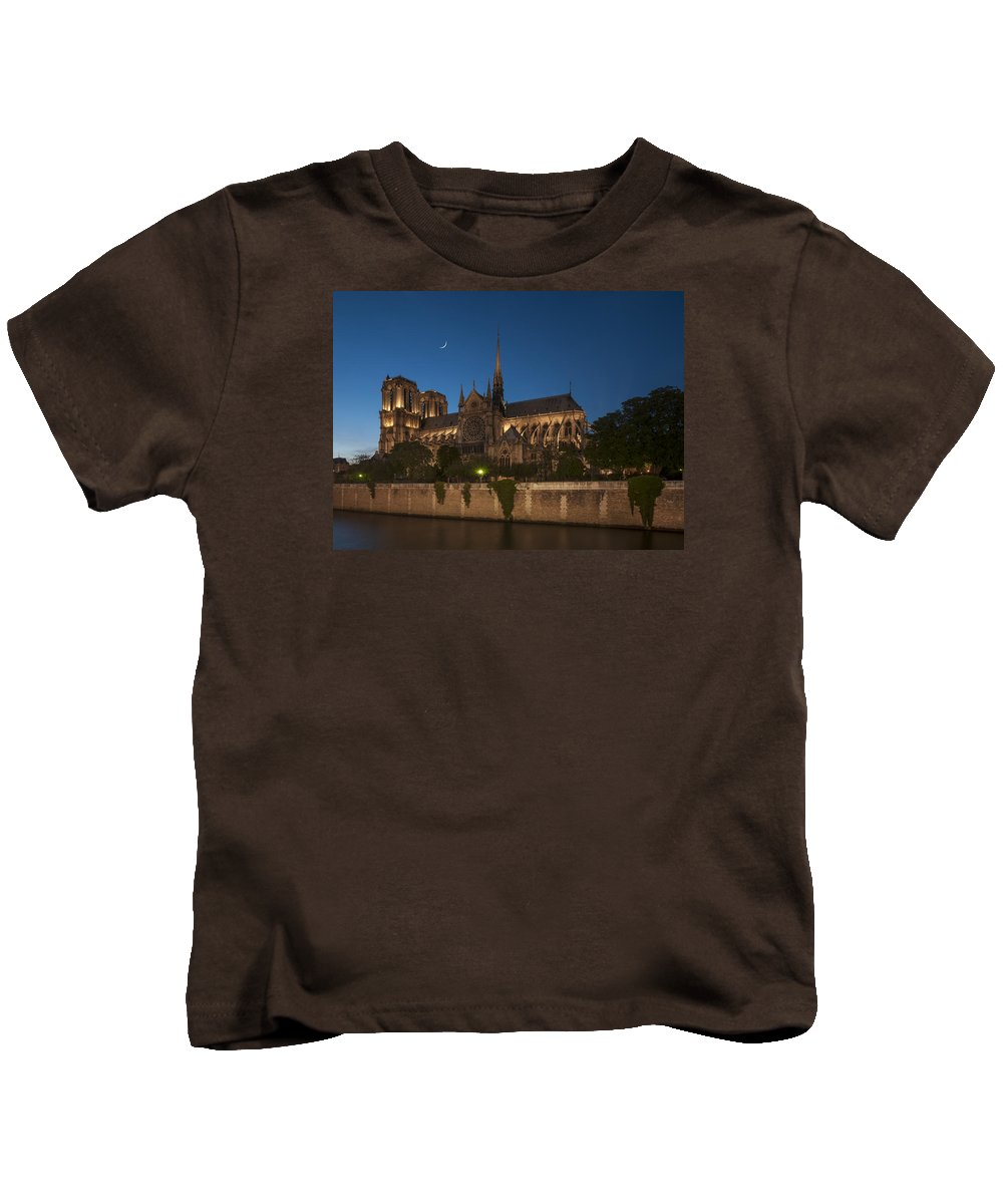 Notre Dame Kids T-Shirt featuring the photograph Notre Dame Cathedral by Ayhan Altun