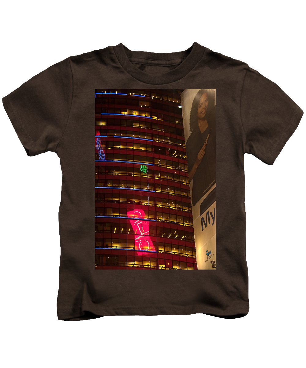 """""""new York City"""" Kids T-Shirt featuring the photograph Nyc Collage by Paul Mangold"""
