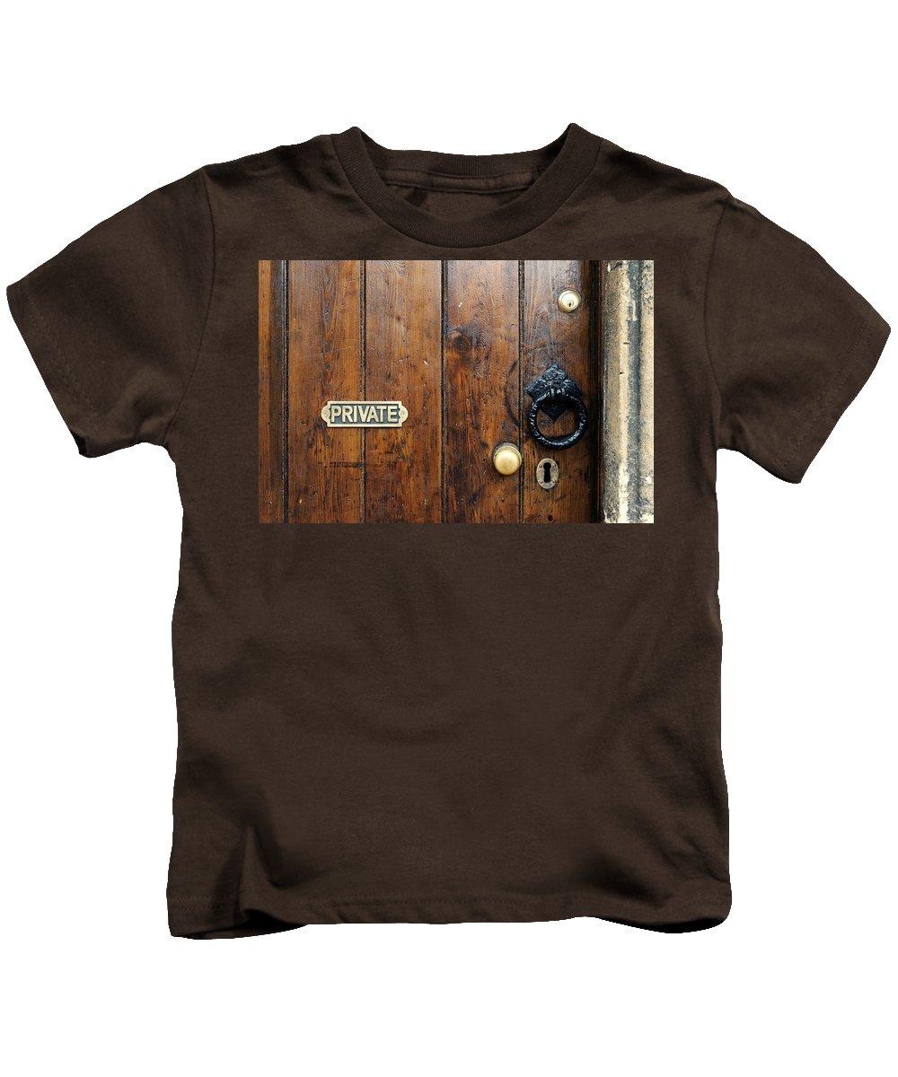 Door Kids T-Shirt featuring the photograph Old Door by Chevy Fleet
